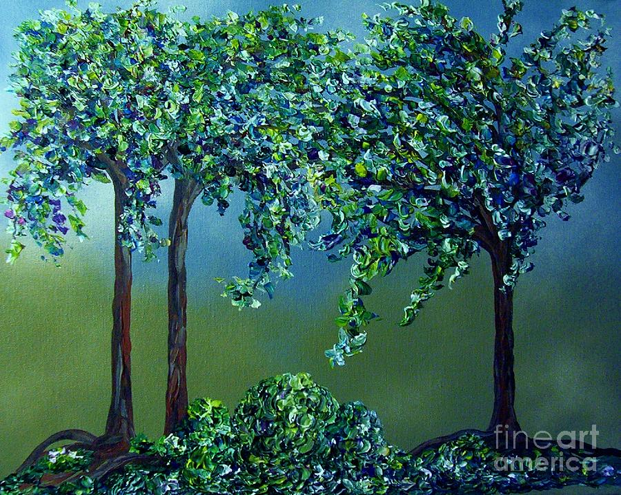 Texture Trees Painting By Eloise Schneider