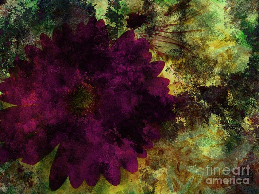 Abstract Framed Prints Digital Art - Textured Flora by Ankeeta Bansal