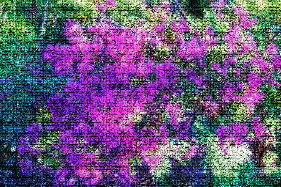 Art Digital Art - Textured Floral Abstract by Linda Phelps