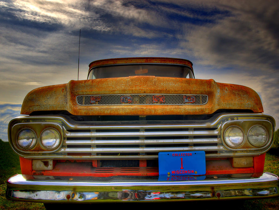 Old Ford Truck Photograph - Textured Ford Truck 1 by Thomas Young