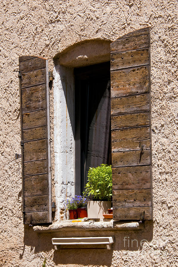 Textured Shutters Photograph by Bob Phillips