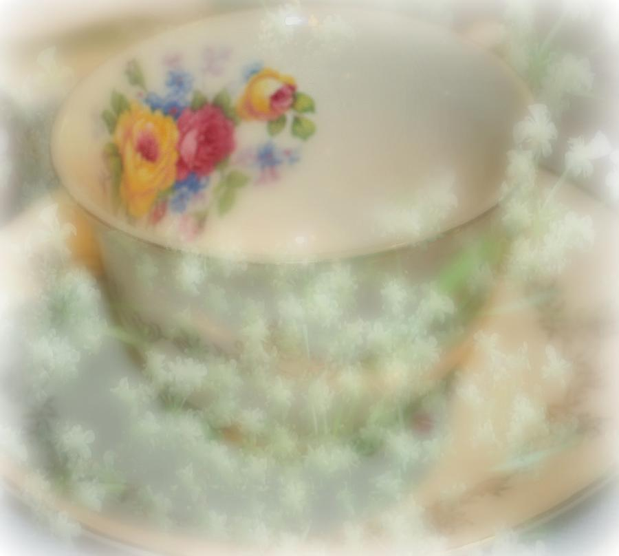 Texture Photograph - Textured Tea Cup by Barbara S Nickerson