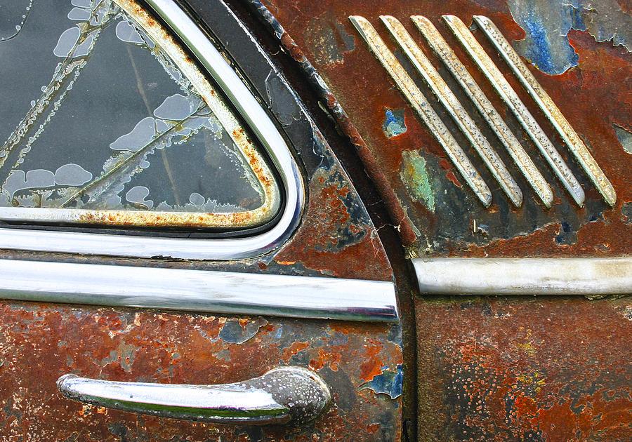 Car Photograph - Textures by Jean Noren