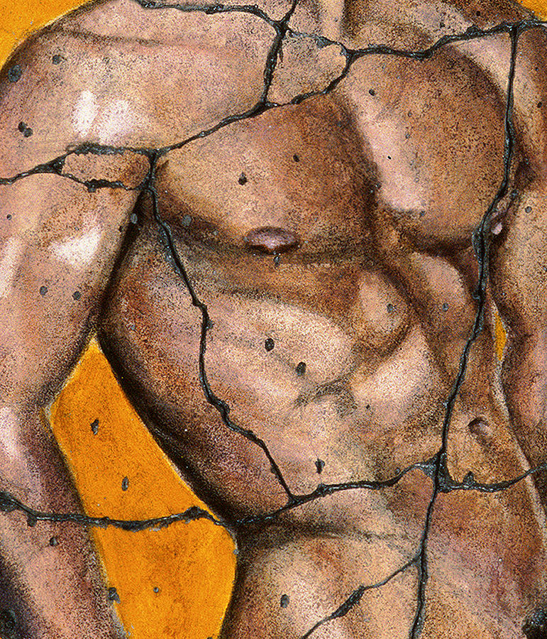 Male Painting - Thaddeus - Study No. 2 by Steve Bogdanoff
