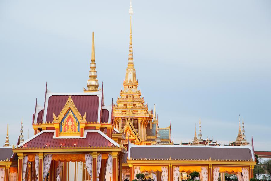 Architecture Sculpture - Thai Construction Design. by Vachiraphan Phangphan