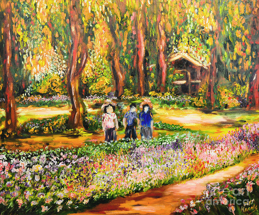 Abstract Painting   Thai Flower Garden By Jott DH