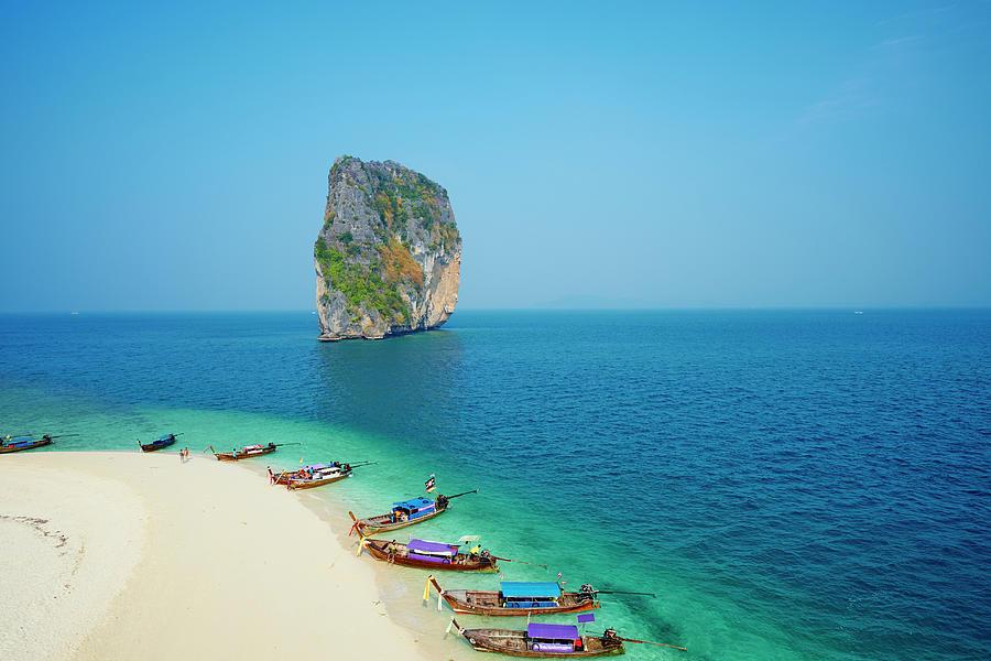 Thailand, Krabi Province, Ko Poda Island Photograph by Tuul & Bruno Morandi