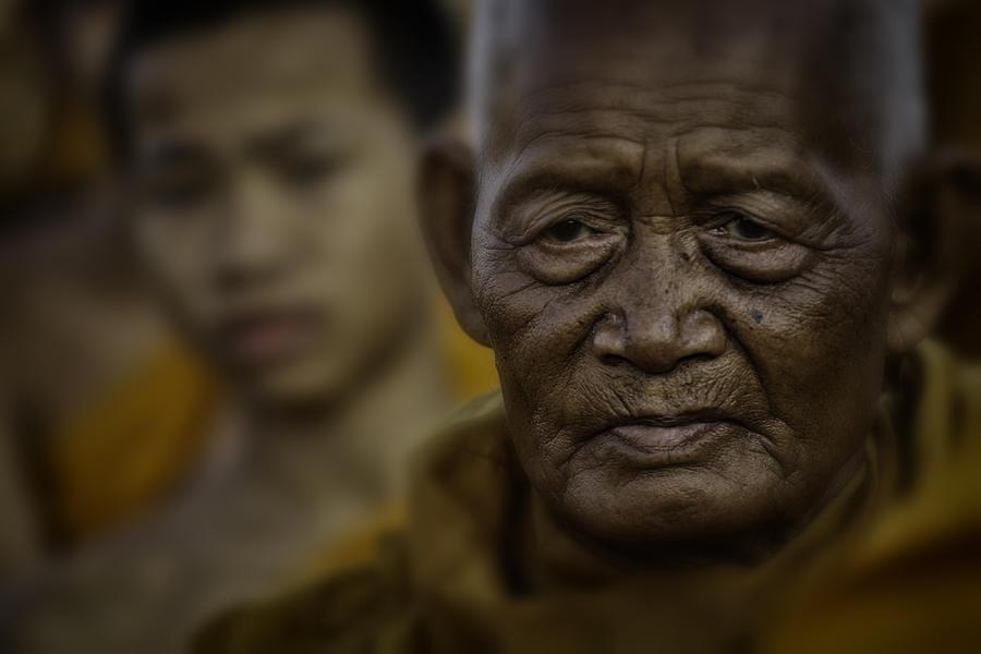 Thailand Photograph - Thailand Monks 2 by David Longstreath