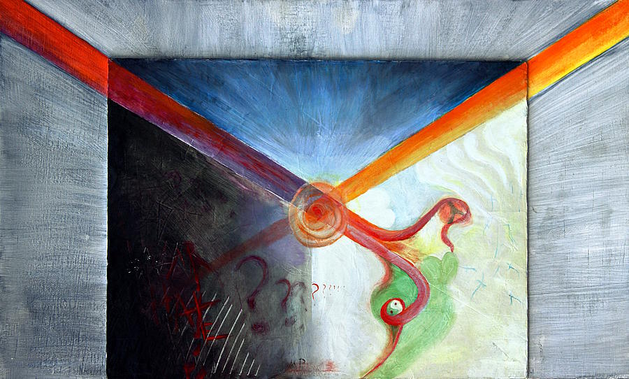 Experimental Painting - Thalamus Projection by Maxx Phoenixx