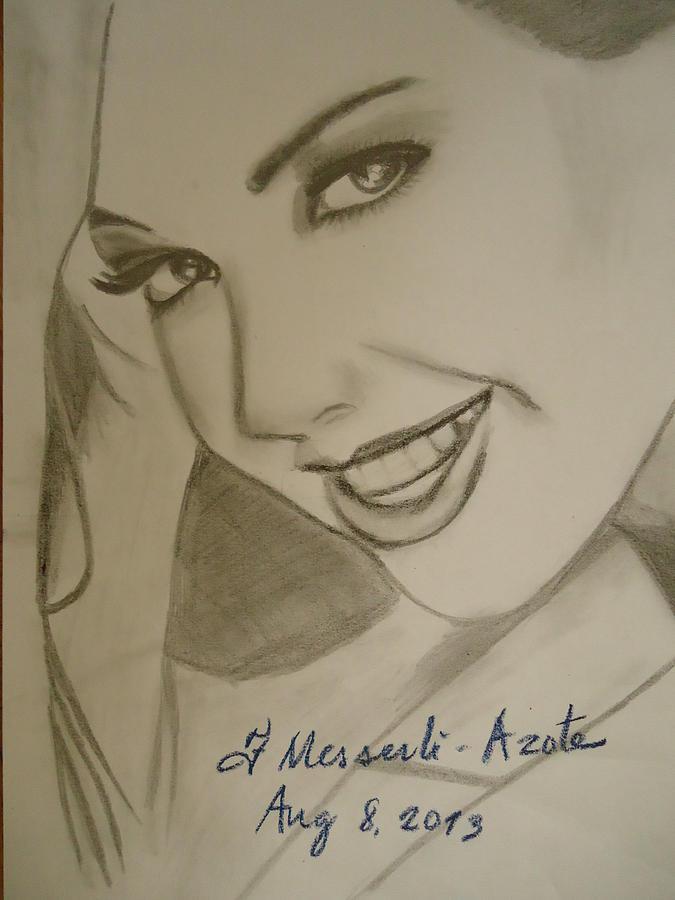 Elegance Drawing - Thalia 2 by Fladelita Messerli-