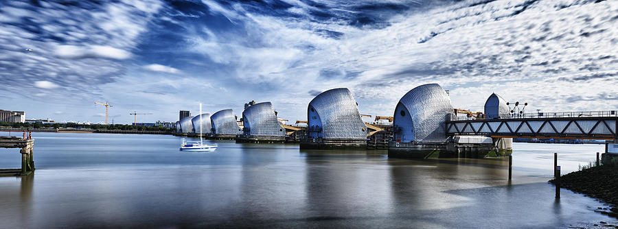 Thames Barrier by Adrian Brockwell