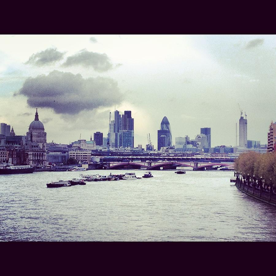 Gherkin Photograph - Thames View by Maeve O Connell