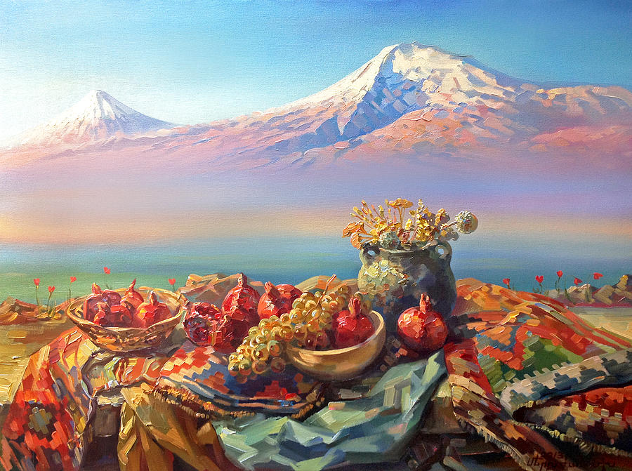 Thank You Ararat From Armenians Painting By Meruzhan