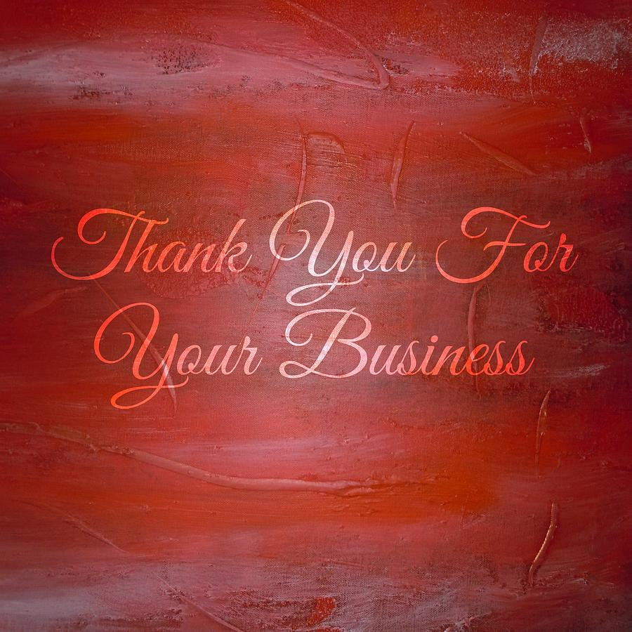 Thank you business card painting by crystal lauren cornell colourmoves
