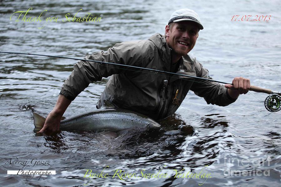 Greeting Cards Photograph - Thank You So Much Sebastian. Byske River. Sweden. by  Andrzej Goszcz