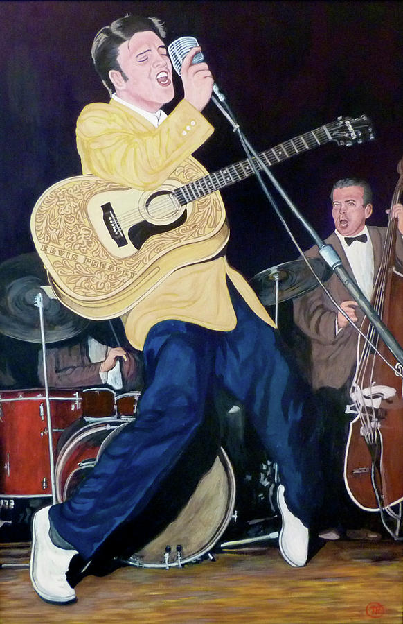 Elvis Presley Painting - Thank You Very Much by Tom Roderick