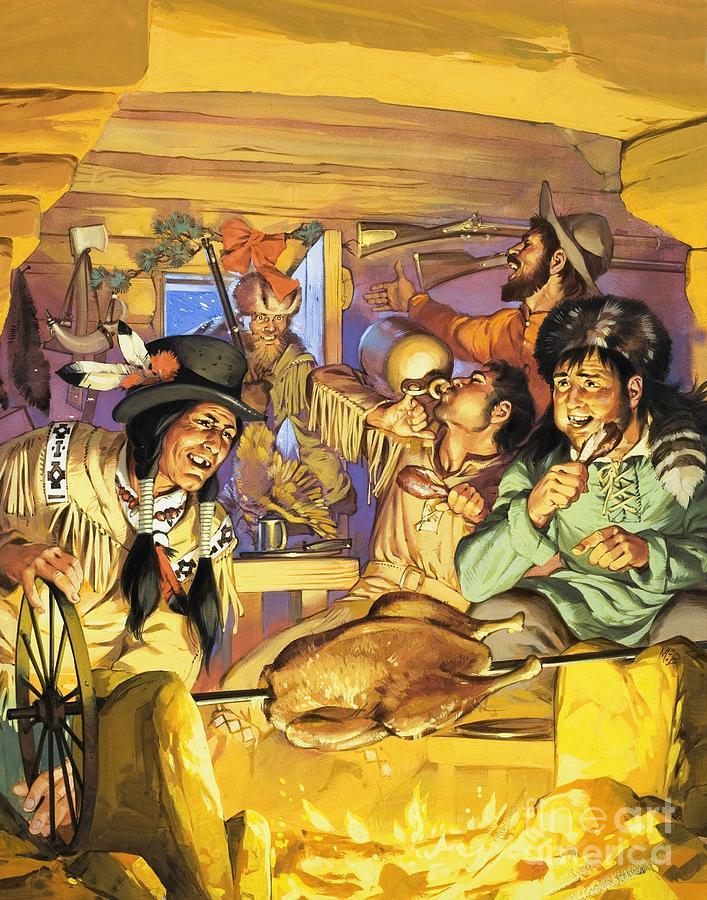 Davey Crockett Painting - Thanksgiving by Angus McBride