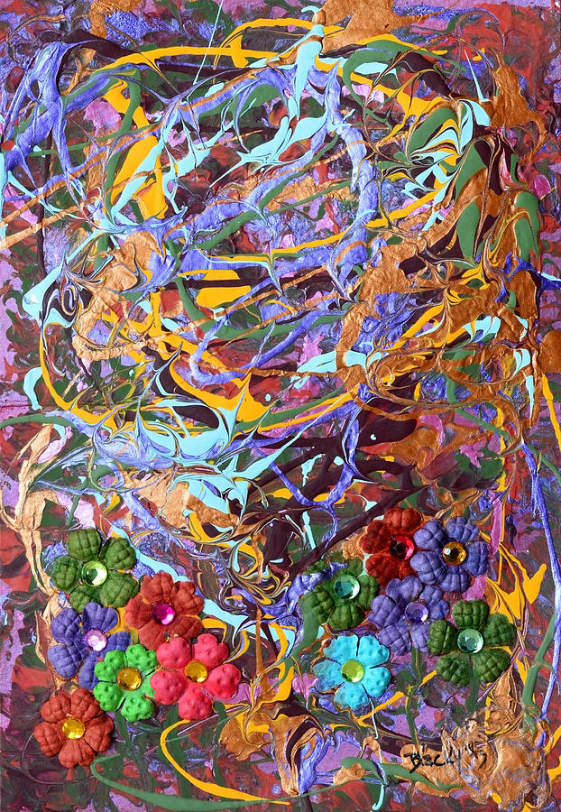Abstract Mixed Media - Thanksgiving by Donna Blackhall