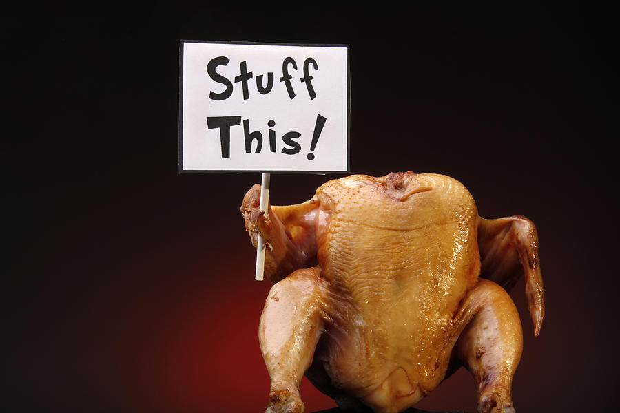 Thanksgiving Turkey with Sign Photograph by NWphotoguy