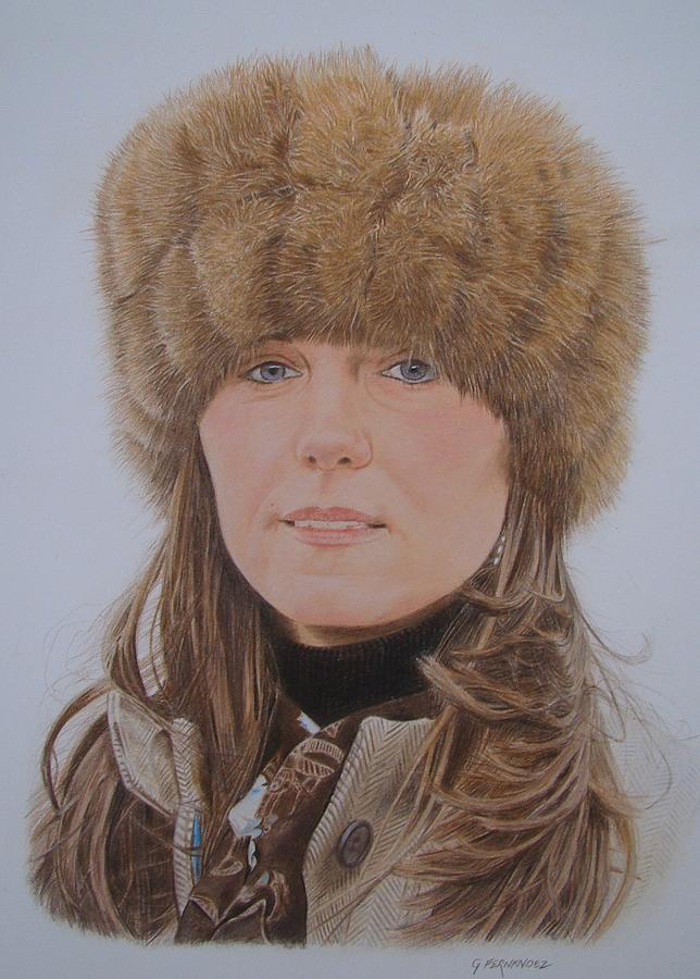 Kate Middleton Drawing - That Hat by Gary Fernandez