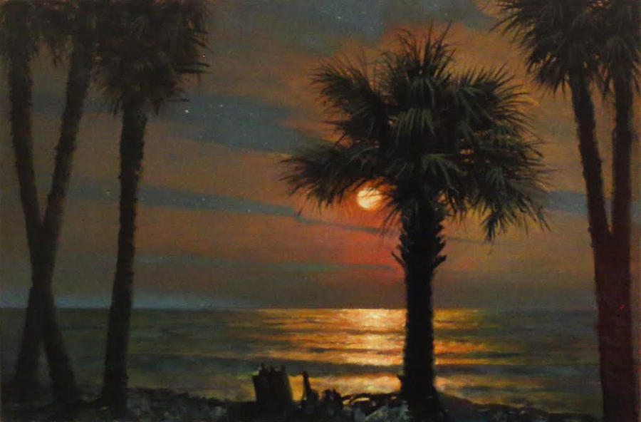Palmetto Tree Painting - That I Should Love A Bright Particular Star by Blue Sky