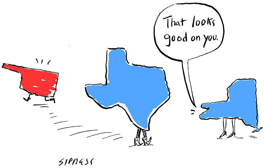 Oklahoma Drawing - That Looks Good by David Sipress