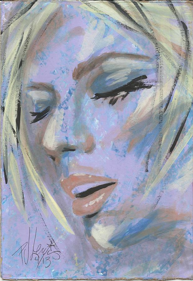 Sensual Woman Painting - That Moment by P J Lewis