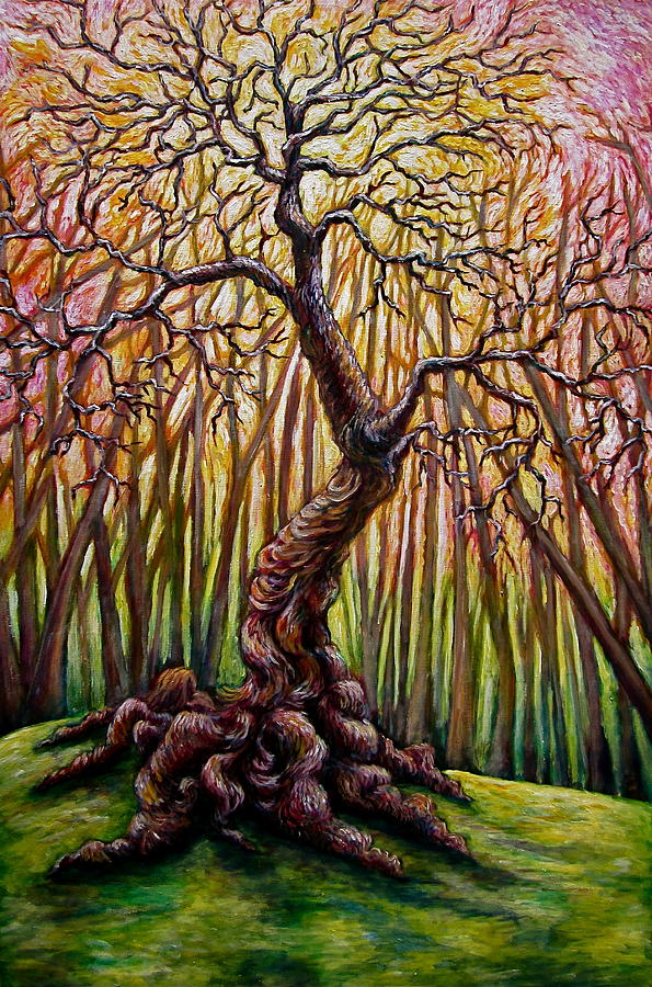 Tree Painting - That Old Tree by Sebastian Pierre