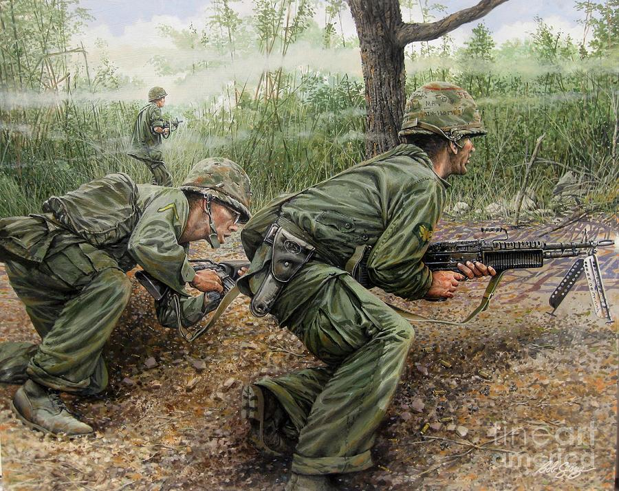 Vietnam War Art Painting - That Particular Moment by Bob  George