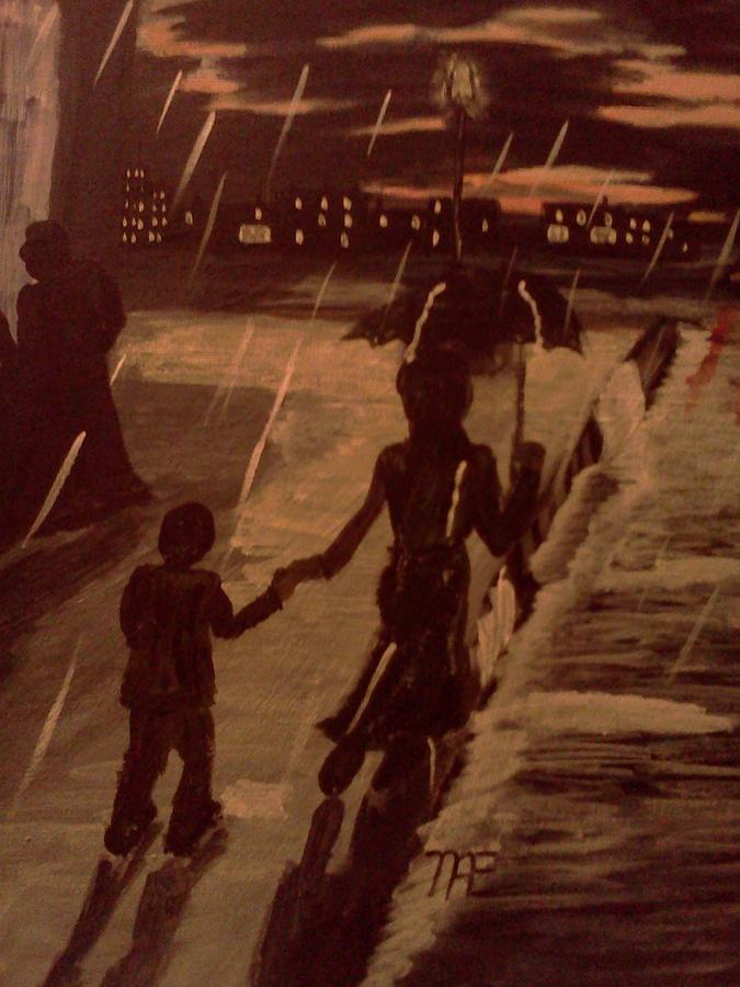That  Rainy Night  Painting by Renee McKnight