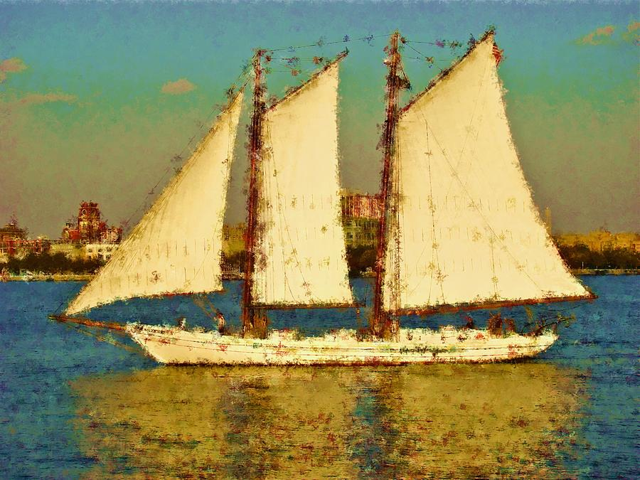 Tall Ship Boat Penns Landing  Photograph - That Ship by Alice Gipson