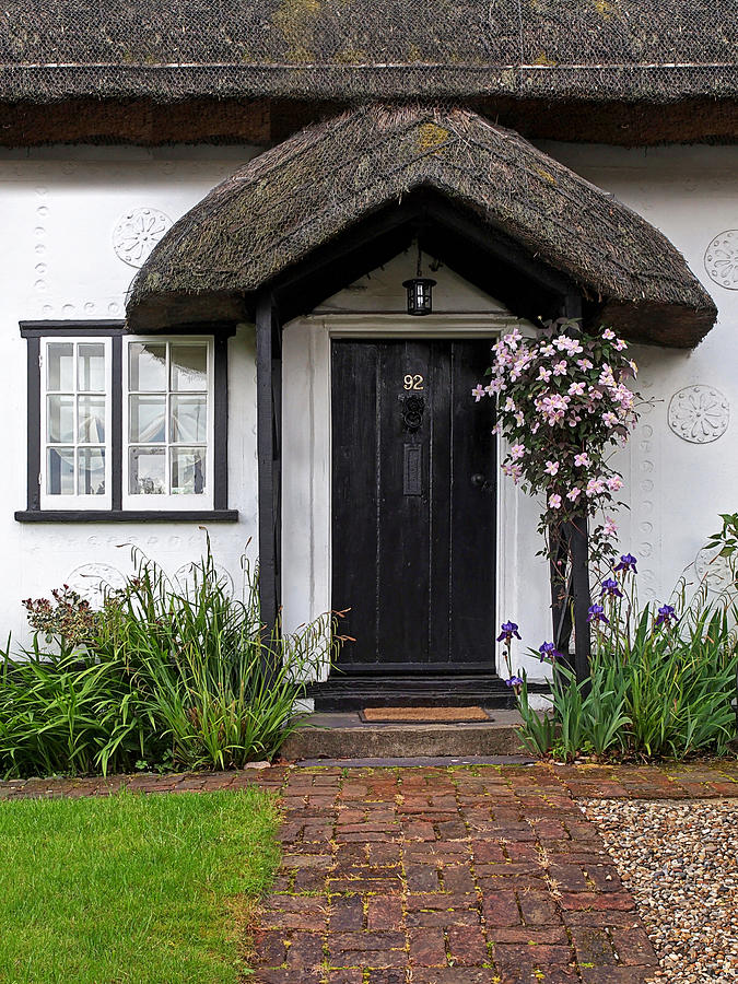 Front Door Photograph - Thatched Cottage Welcome by Gill Billington