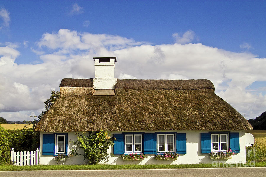 House Photograph - Thatched Country House by Heiko Koehrer-Wagner