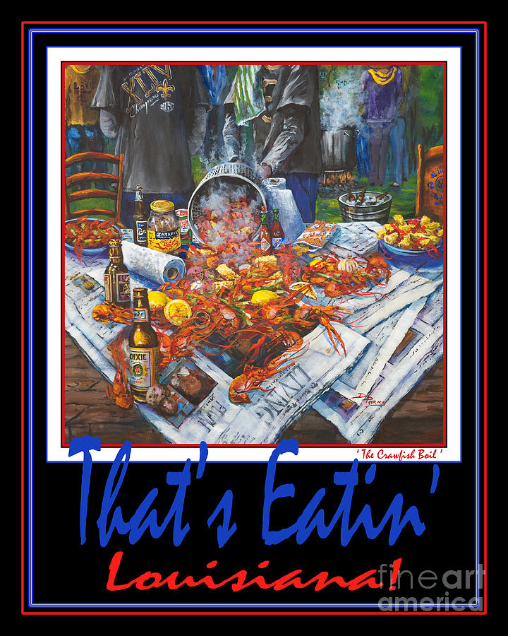 French Quarter Painting - Thats Eatin Louisiana by Dianne Parks