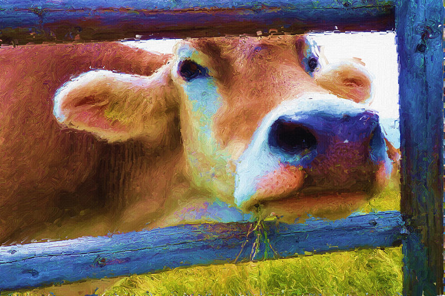 Ox Painting - Thats My Lunch by Inspirowl Design