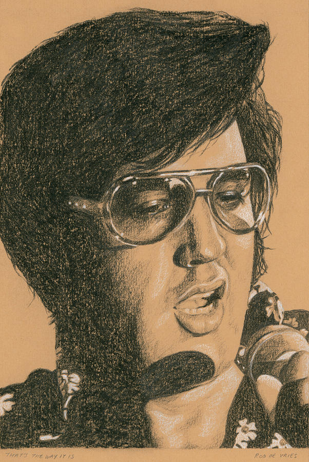 Elvis Painting - Thats The Way It Is by Rob De Vries