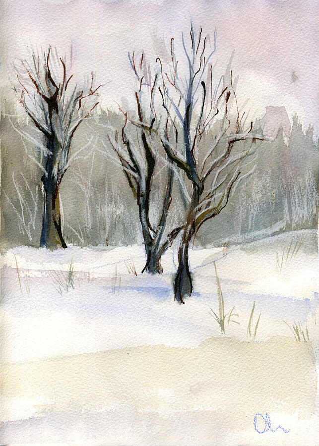 Thaw Painting by Lelia Sorokina