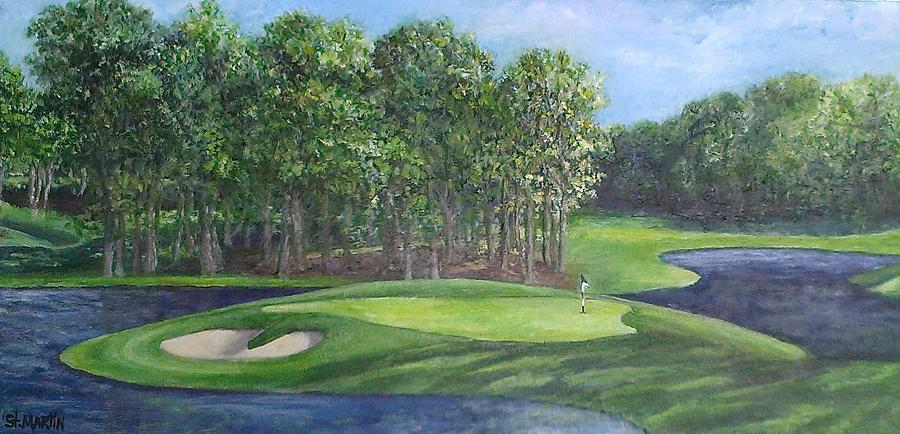 Golfing Painting - The 10th At Meadow Brook Golf Club by Annie St Martin