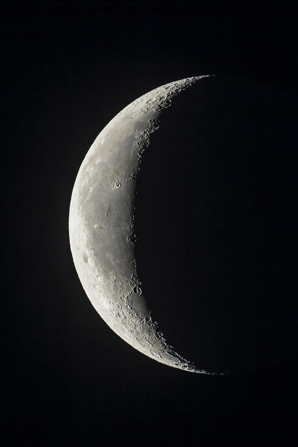 The 24-day-old Waning Crescent Moon Photograph by Alan Dyer