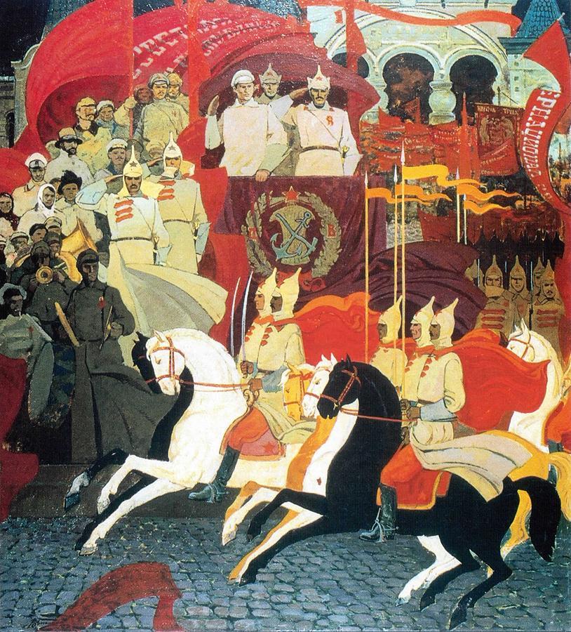Russian Revolution Digital Art - The 25th Of October 1922 by Jake Hartz
