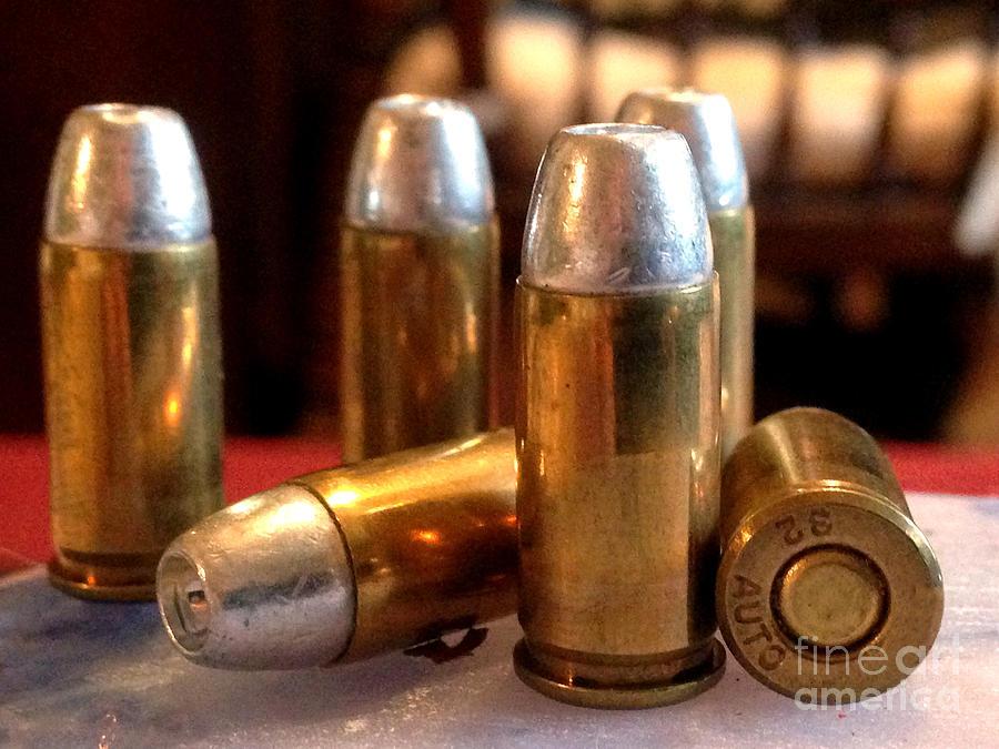 Bullet Photograph - Bullet Art 32 Caliber Hollow Point Bullet 1 by Lesa Fine