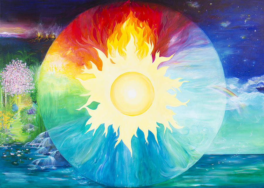 Art Elements Of Painting : The 4 elements painting by barbara klimova