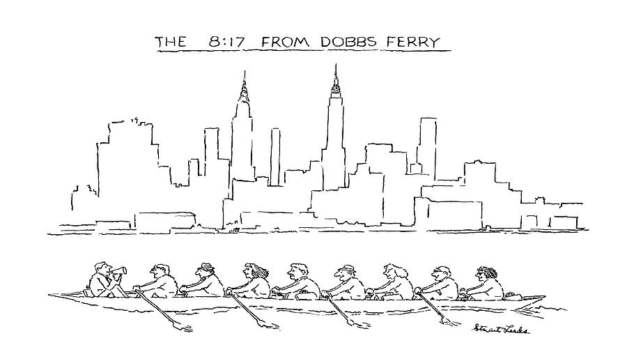 The 8:17 From Dobbs Ferry Drawing by Stuart Leeds