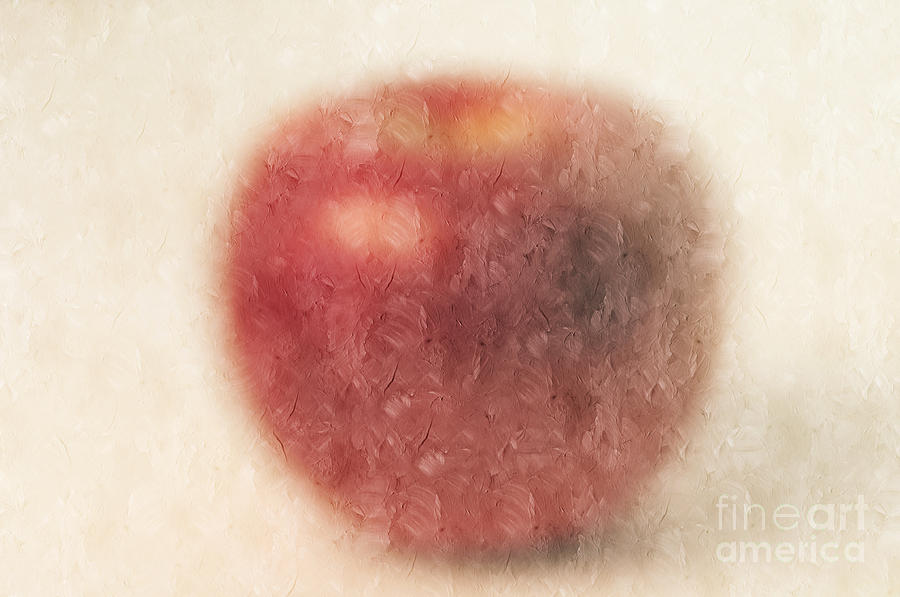 Red Photograph - The Abstract Apple by Andee Design