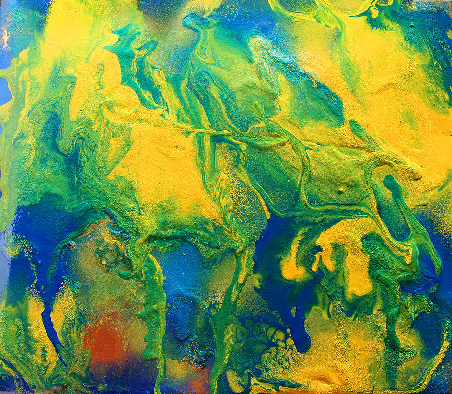 Abstract Painting - The Abstract Earth by Julia Apostolova