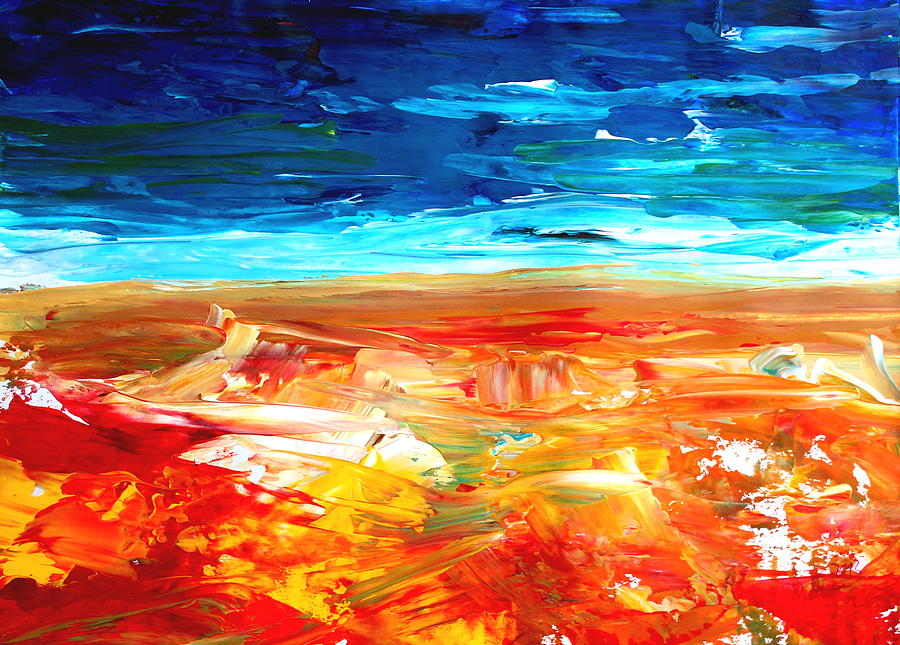 Abstract Painting Painting - The Abstract Rainbow Beach Series II by M Bleichner