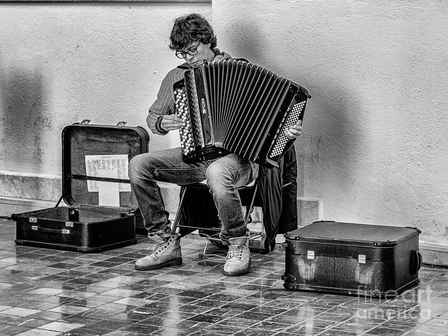Malaga Photograph - The Accordion by Eugenio Moya