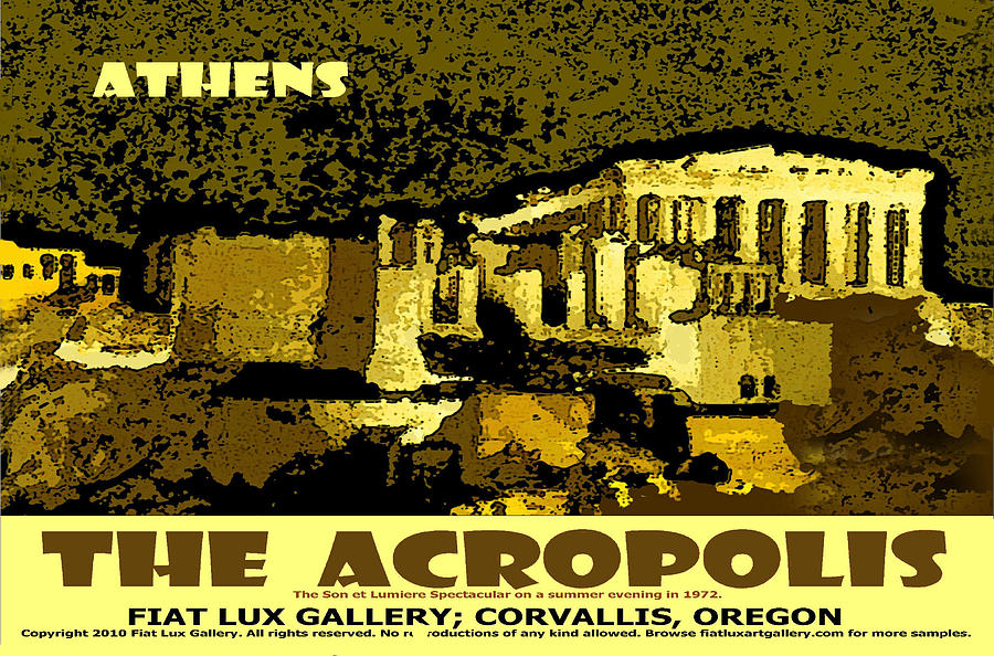 Athens Digital Art - The Acropolis Athens by Michael Moore