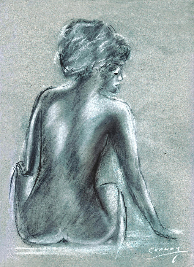 Nude Drawing - The Actress by Tom Conway