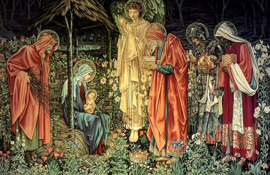 Edward Burne-jones Tapestry - Textile - The Adoration Of The Kings by Bradley Skeen